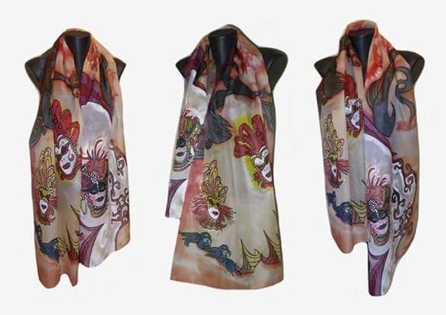 ръчно рисувани копринени шалове